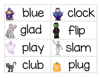 Halloween Blends and Consonant Digraph Cards