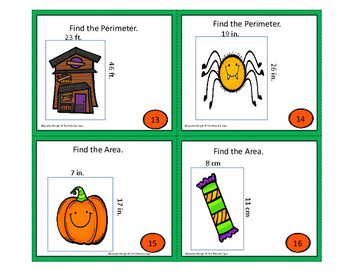 Halloween Board Game: Area and Perimeter