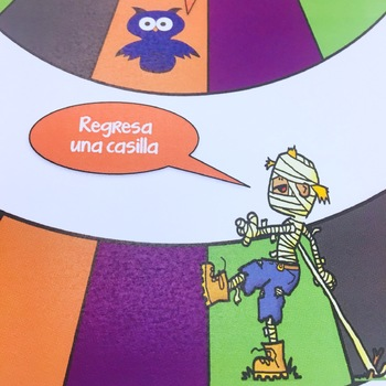 Spanish Halloween Board Game