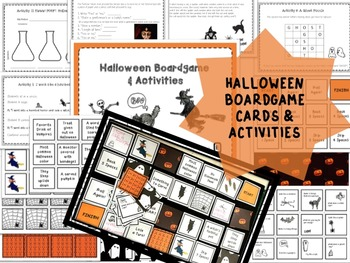 Halloween Board game and Activities Pack for PreK~3rd Grade