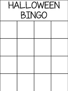 Halloween - Boardmaker Bingo