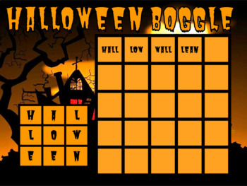 Halloween Boggle Activity for Google Classroom
