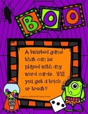 "Halloween ""Boo"" Game board"