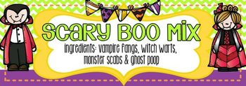 Halloween Boo Mix Class Treat Label Toppers