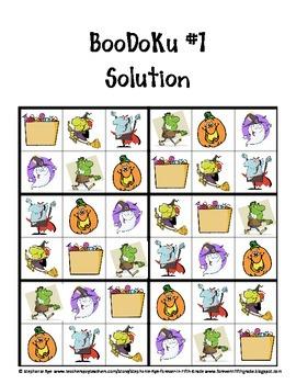 "Halloween ""Boodoku"" Puzzles"
