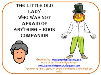 Halloween Book Companion-The Little Old Lady Who Was Not Afraid of Anything
