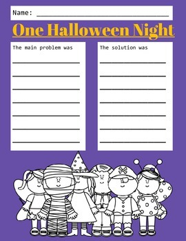 Halloween Book Companions: 32 Common Core Story Response Sheets