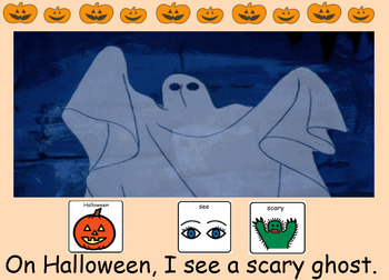 Halloween Book (Core Vocabulary SmartBoard Read Aloud with Sounds!)
