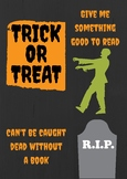 Halloween Book Display Sign