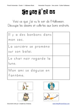 Halloween Book - Grade 1/2 - FRENCH - Cahier Halloween