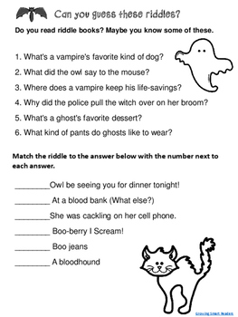 Halloween Book Hunt Activity and Riddles