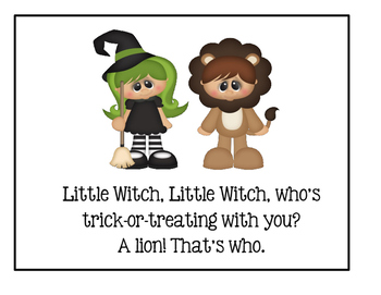 Halloween~Little Witch, Little Witch, Who's Trick-Or-Treating With You?