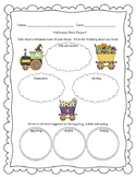 Halloween Book Report with Graphic Organizer FREEBIE OF THE WEEK