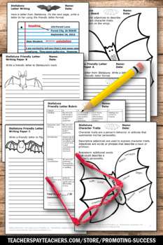 Stellaluna Activities, Friendly Letter Writing Template, Halloween Book