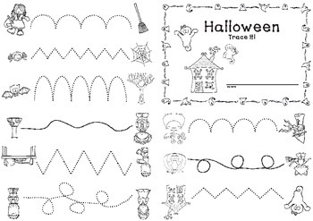 Halloween Booklet - Trace it!