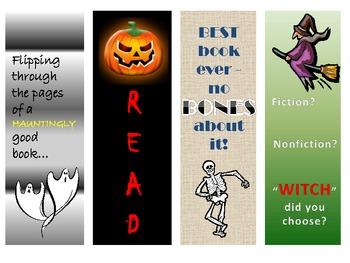 Halloween Bookmark Freebie