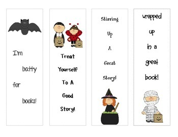 Halloween Bookmarks for your students!