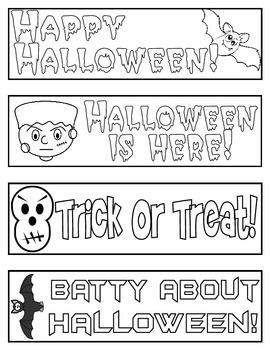 Halloween Bookmarks