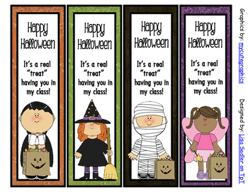 Halloween Bookmarks - 4 Designs