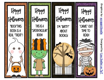 Halloween Bookmarks - 8 Designs