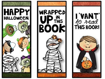 Halloween Bookmarks - FREE