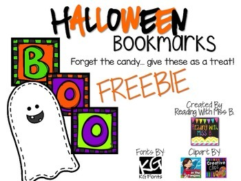 Halloween Bookmarks ~ {FREEBIE}