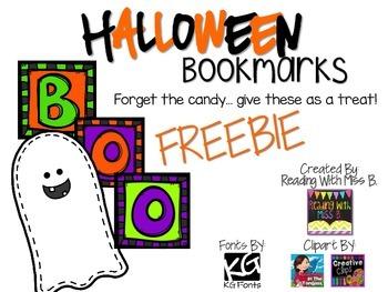 Halloween Bookmarks ~ {FREEBIE}