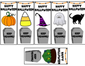 halloween bookmarks for kids - Halloween Book Marks