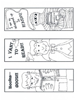 Halloween Bookmarks - Free from ABC Schoolhouse