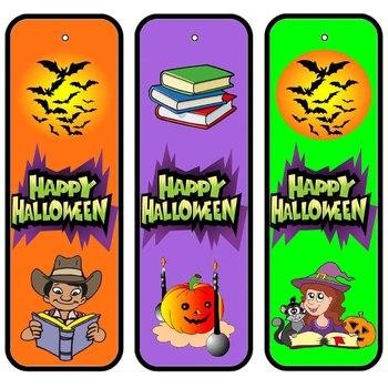 halloween bookmarks happy halloween - Halloween Book Marks
