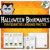 Halloween - Figurative Language / Poetry Practice Bookmarks