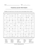 Respiratory System Word Search (Grades 7-10) with Key
