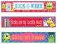 Halloween Bookmarks, Shelf Markers or Desk Name Plates - EDITABLE