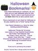 Halloween Bookmarks (Supercute!)