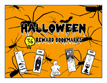 Halloween Bookmarks to reward reading! Set of 36