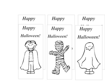 Halloween Bookmarks to Color