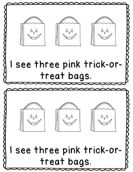 Halloween Books - Coloring, Counting and Reading