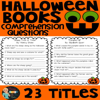 Halloween Books Comprehension Questions