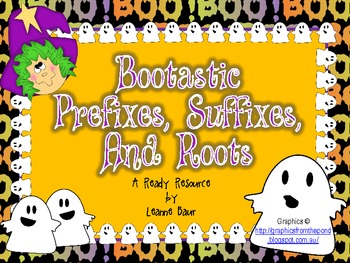 Halloween Bootastic Prefixes, Suffixes, and Roots