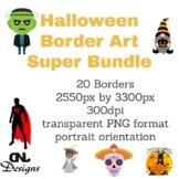 Halloween Border Art Super Bundle