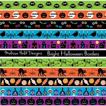 Clipart: Halloween Border Patterns Clip Art