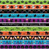 Bright Halloween Border Patterns Clipart
