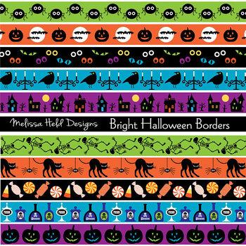 Clipart: Halloween Border Patterns Clip Art