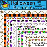 Halloween Borders Clip Art (Zombies, witches, skeletons, and more!)