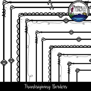 Thanksgiving Borders Clipart
