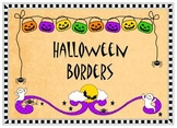 Halloween Borders - Color and Line art!