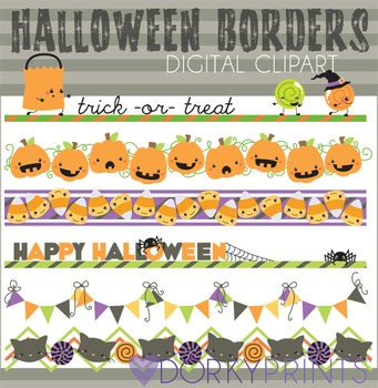 Halloween Borders Digital Clip Art