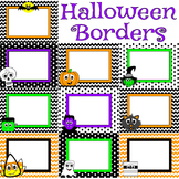 Halloween Borders and Clipart Bundle