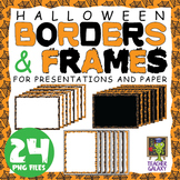 Halloween Borders and Frames for PowerPoint and Paper