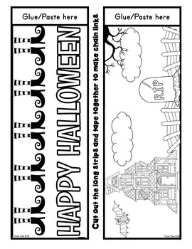 Halloween Boxes and Links - Halloween Coloring Activity